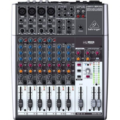 BEHRINGER XENYX 1204USB 12-Input 2/2-Bus Mixer with XENYX Mic Preamps & Compressors, British EQs and USB/Audio Interface