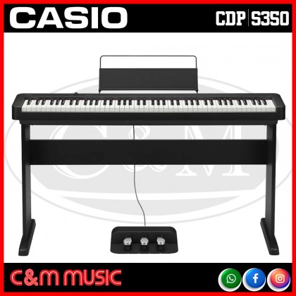 Casio CDP-S350 88-key Digital Piano Home Package with Piano Stand (CDPS350 / CDP S350)