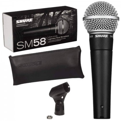 Shure SM58 LC Cardiod Vocal Microphone